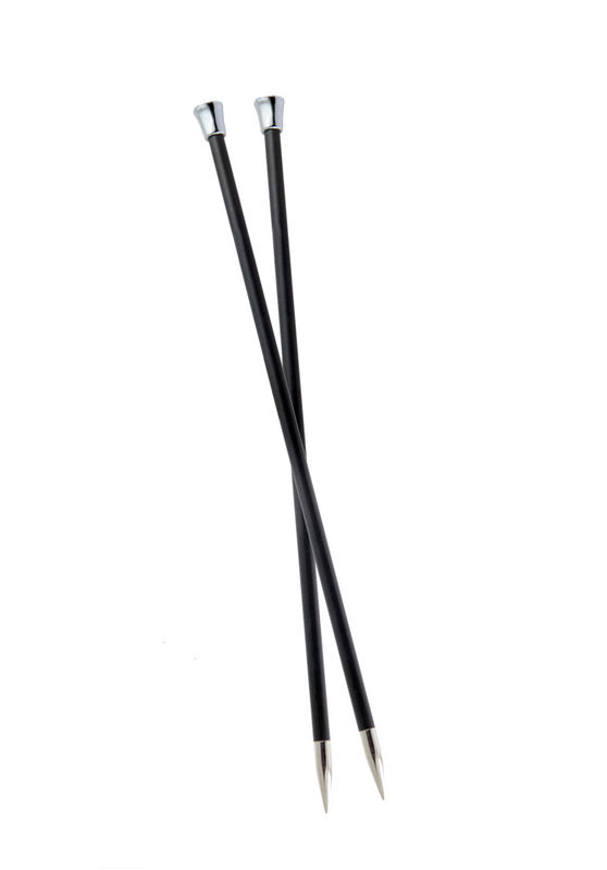 KP41286 KnitPro Karbonz 35cm Knitting Pins: 3.5mm