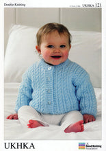 Load image into Gallery viewer, UKHKA Pattern 121: Jacket, Hat & Blanket in DK
