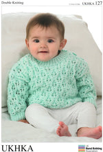 Load image into Gallery viewer, UKHKA Pattern 127: Cardigan & Sweater in DK