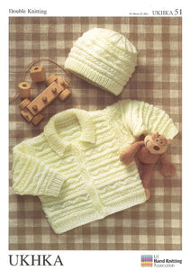UKHKA Pattern 51: Child Jacket and Hat in DK