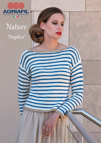 Adriafil Pattern: Angelica Pullover in Nature