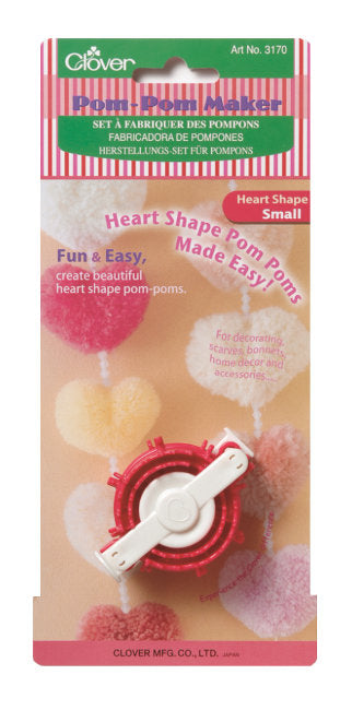 Clover Heart Shaped Pom Pom Maker: CL3170 Small