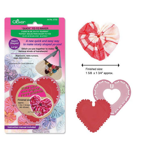 Clover Heart Shaped Yo-Yo Maker: CL8705 Large