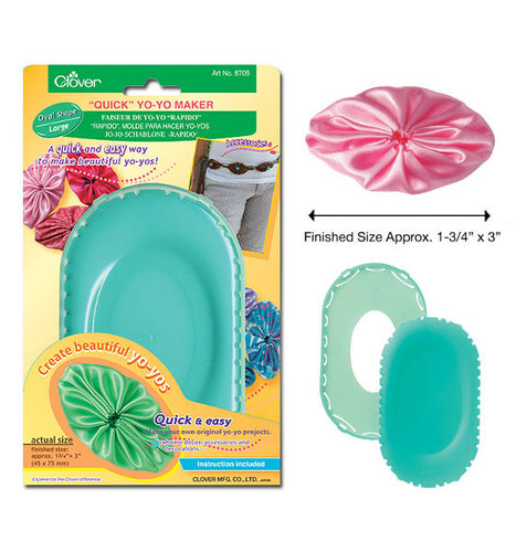Clover Oval Shaped Yo-Yo Maker: CL8709 Large