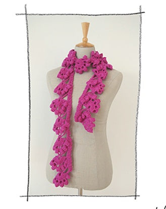 Erika Knight Pattern: Project 7 Edgy Crochet Scarf in Vintage