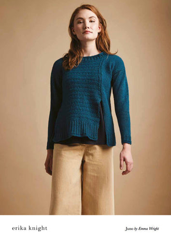 Erika Knight Pattern 0115: Juno in British Blue 100