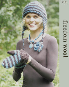 Freedom Pattern 9101: Hat & Mittens in Freedom Wool