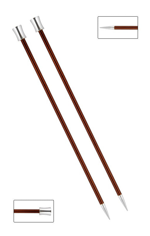 KP47332 Zing 40cm Single Pointed Knitting Needles: 5.5mm