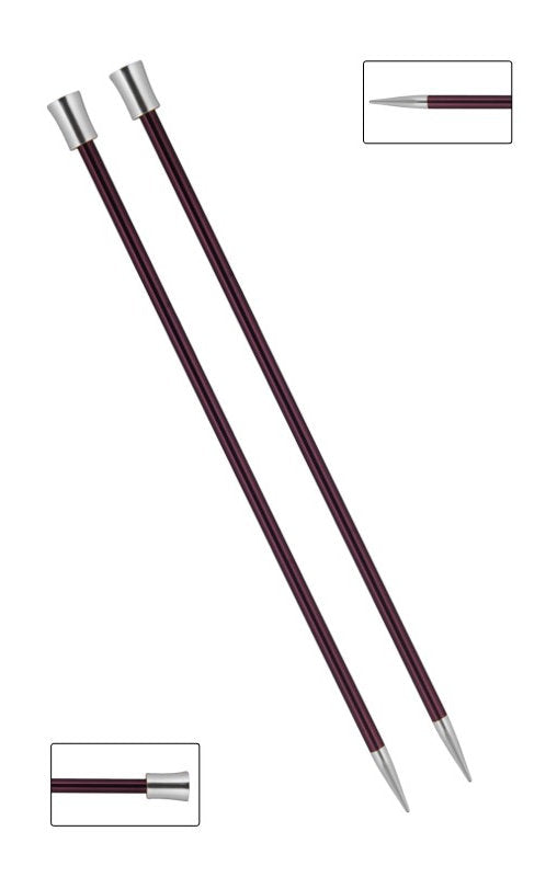 KP47333 Zing 40cm Single Pointed Knitting Needles: 6mm