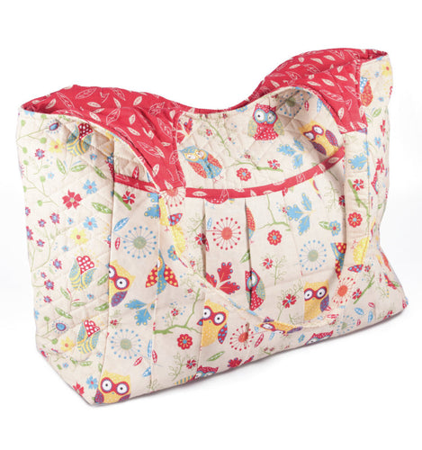 Owl Print Maxi Knitting and Craft Bag MR4743.RRRD