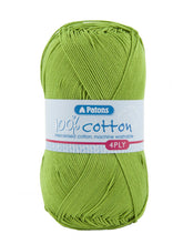 Load image into Gallery viewer, Patons 100% Cotton 4 Ply 100g