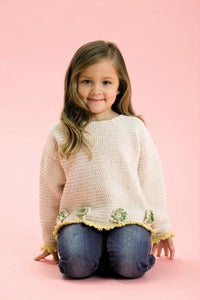 Patons Crochet Pattern 3540: Sweater in Cotton DK (Age 0 to 4)