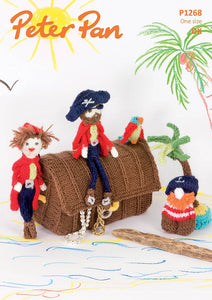 Peter Pan Pattern 1268:  Pirate Play Set & Bunting in DK