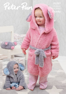Peter Pan Pattern 1297: Dressing Gown & Mouse in Precious