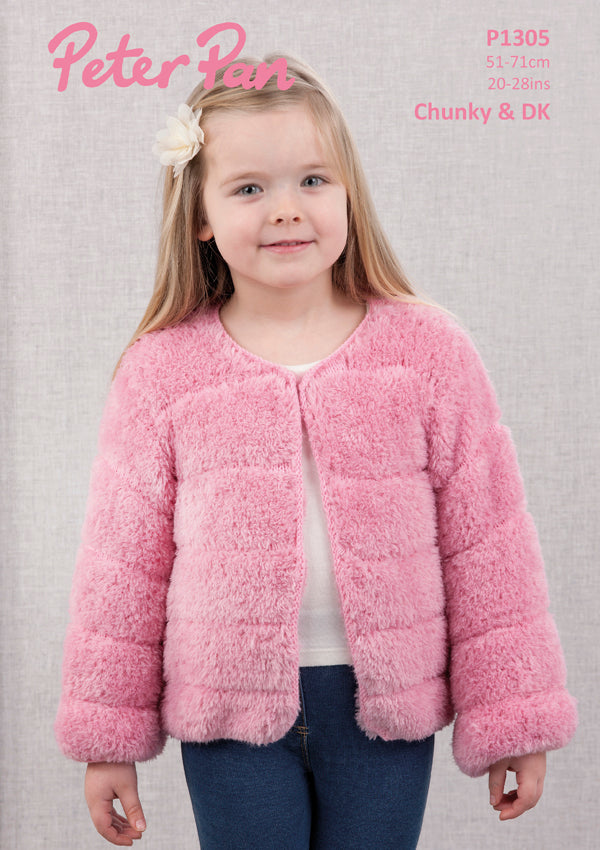 Peter Pan Pattern 1305: Fax Fur Jacket in Precious & DK