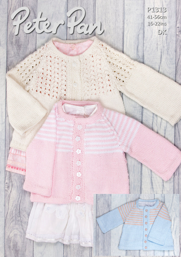 Peter Pan Pattern 1313: Jacket in Baby Cotton DK