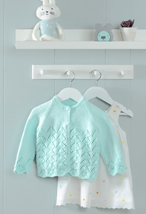 Peter Pan Pattern 1325: Sweater and Cardigan in Baby Cotton DK