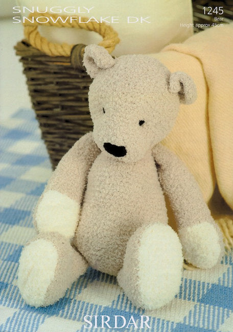 Sirdar Pattern 1245: Ted the Bear in Snowflake DK