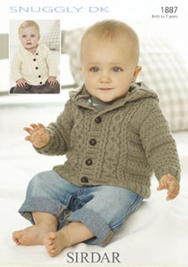 Sirdar Pattern 1887: Child Jacket in Snuggly DK