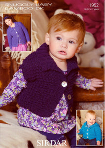 Sirdar Pattern 1952: Jackets and Waistcoat in Baby Bamboo DK