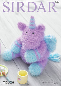 Sirdar Pattern 2486: Toy Unicorn in Touch