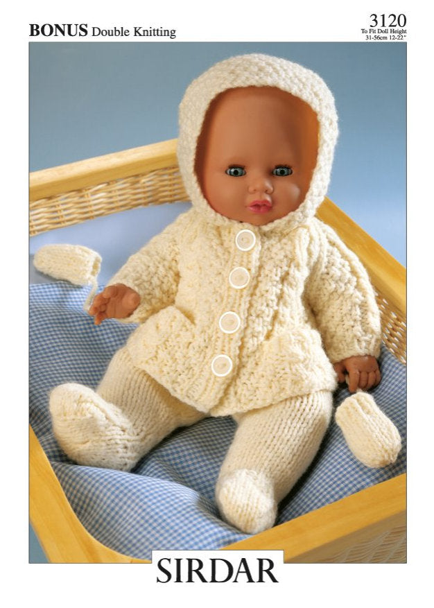 Sirdar Pattern 3120: Doll Clothes in DK