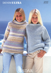 Sirdar Pattern 4322: Sweater in Denim Ultra