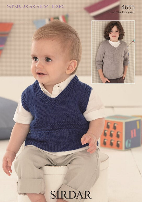 Sirdar Pattern 4655:  Tank and Sweater in Snuggly DK