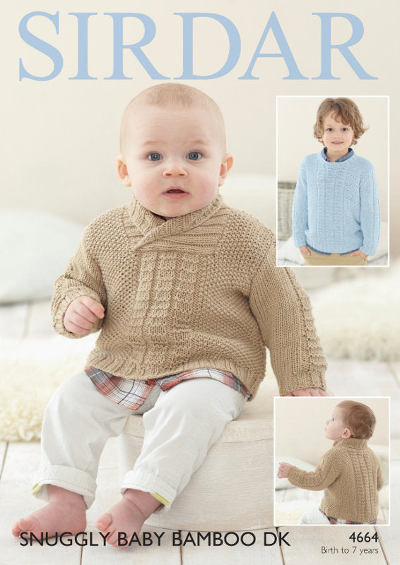 Sirdar Pattern 4664:  Sweater in Baby Bamboo DK