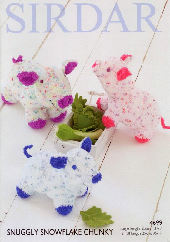 Sirdar Pattern 4699: Pig Toy in Snowflake Chunky