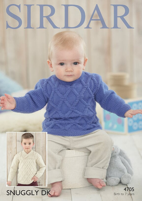 Sirdar Pattern 4705: Sweater in Snuggly DK