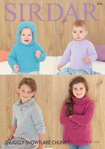 Sirdar Pattern 4726: Sweaters in Snowflake Chunky
