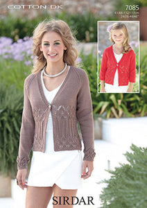 Sirdar Pattern 7085: Cardigan in Sirdar Cotton DK