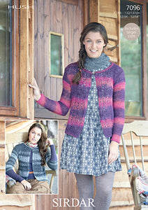 Sirdar Pattern 7096: Lace Cardigan in Hush