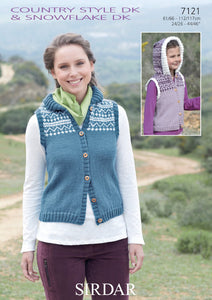 Sirdar Pattern 7121: Fair Isle Gilet in Country Style DK