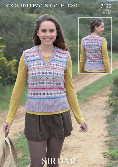 Sirdar Pattern 7122: Fair Isle Tank in Country Style DK