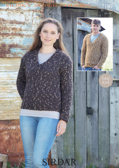 Sirdar Pattern 7189: Sweater in Husky Super Chunky