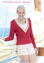 Load image into Gallery viewer, Sirdar Pattern 7275: Sweater & Tank in Cotton Rich Aran