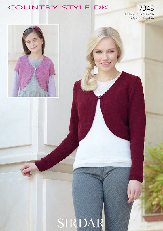 Sirdar Pattern 7348: Cardigan in Country Style DK