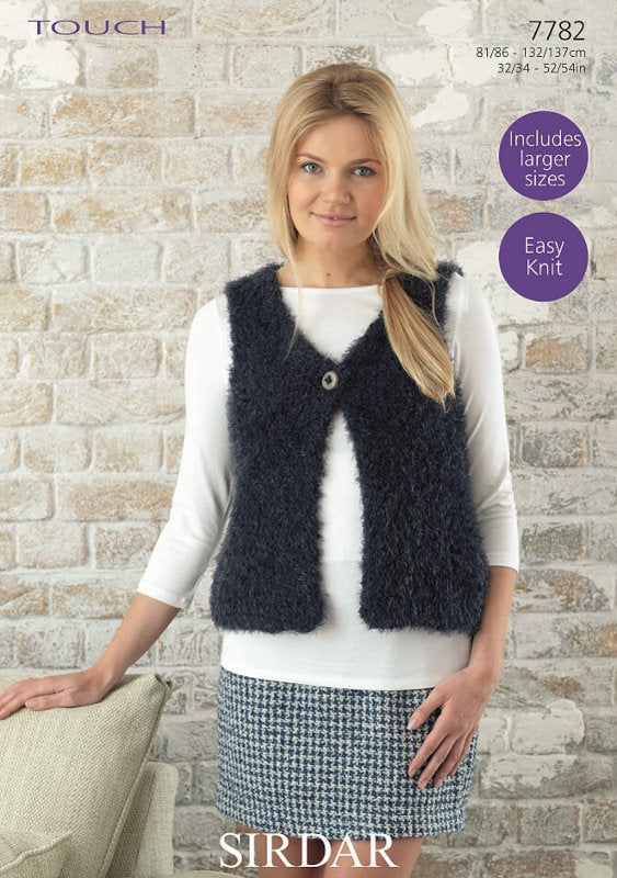 Sirdar Pattern 7782: Gilet in Touch