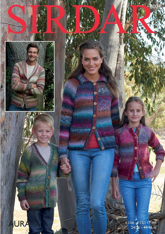 Sirdar Pattern 8004: Cardigan in Aura