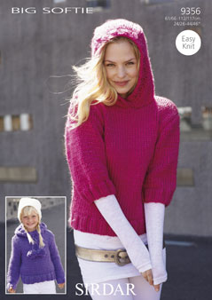 Sirdar Pattern 9356: Sweaters in Big Softie