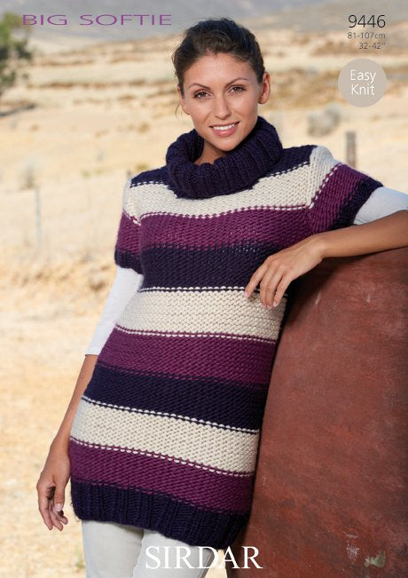 Sirdar Pattern 9446: Sweater Dress in Big Softie