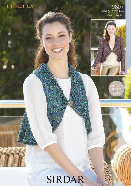 Sirdar Pattern 9607: Circular Jacket and Waistcoat in Firefly
