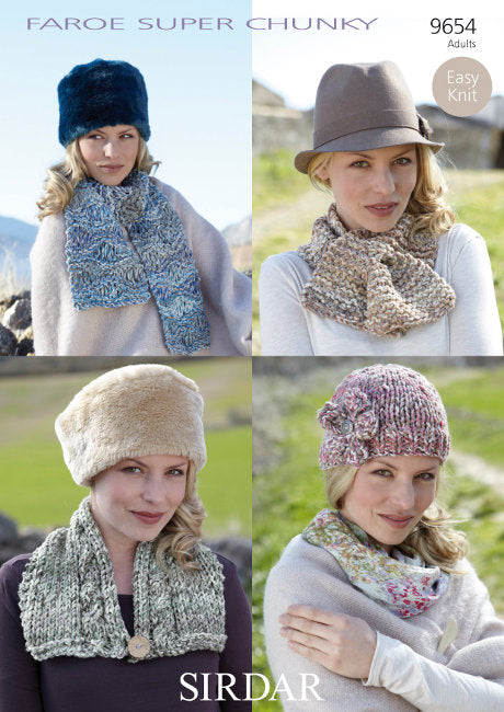 Sirdar Pattern 9654: Accessories in Faroe Super Chunky