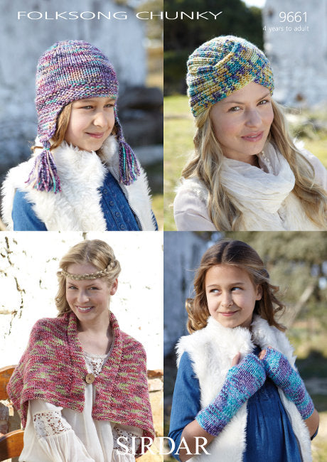 Sirdar Pattern 9661: Accessories in Folksong Chunky