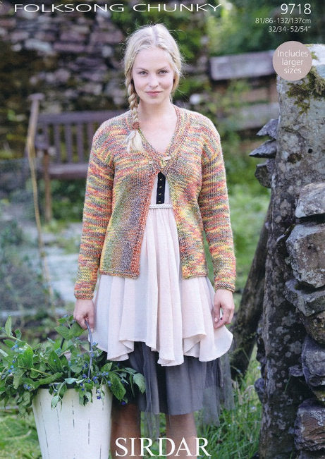 Sirdar Pattern 9718: Jacket in Folksong Chunky