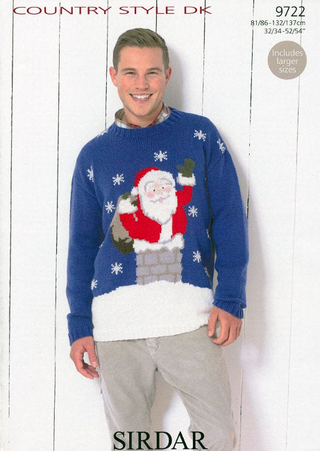 Sirdar Pattern 9722: Santa Claus Sweater in Country Style DK