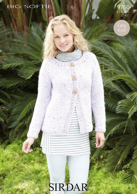 Sirdar Pattern 9760: Cardigan in Big Softie