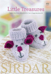 Sirdar Booklet 490: Little Treasures in Baby Bamboo DK